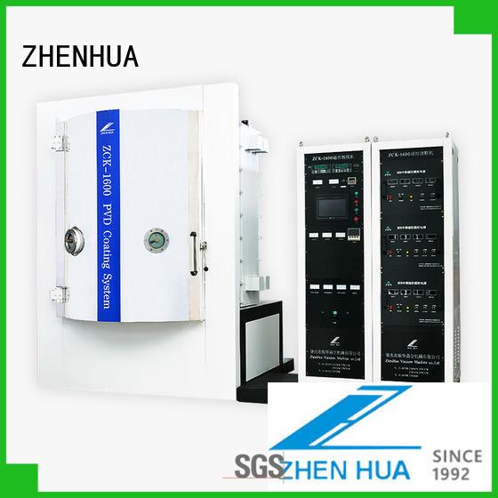 ZHENHUA semi-automatic magnetron sputtering system customized for ceramics