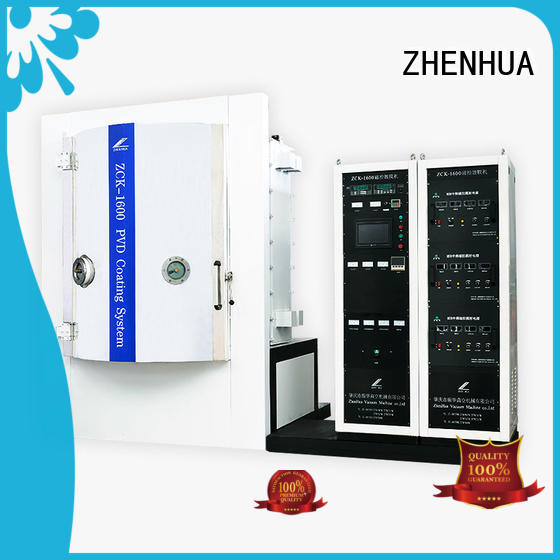 ZHENHUA fully automatic Magnetic control optical film plating machine supplier for plastic
