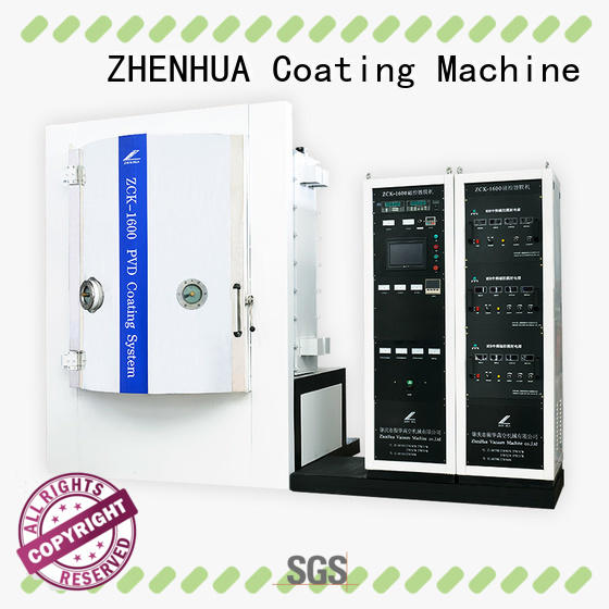 ZHENHUA stainless steel electrode coating machine supplier for plastic