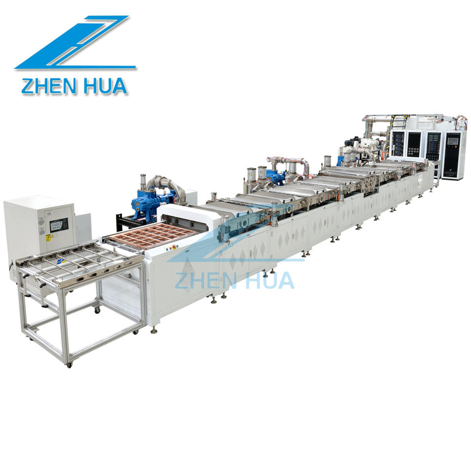Horizontal EMI electromagnetic shielding film continuous coating line
