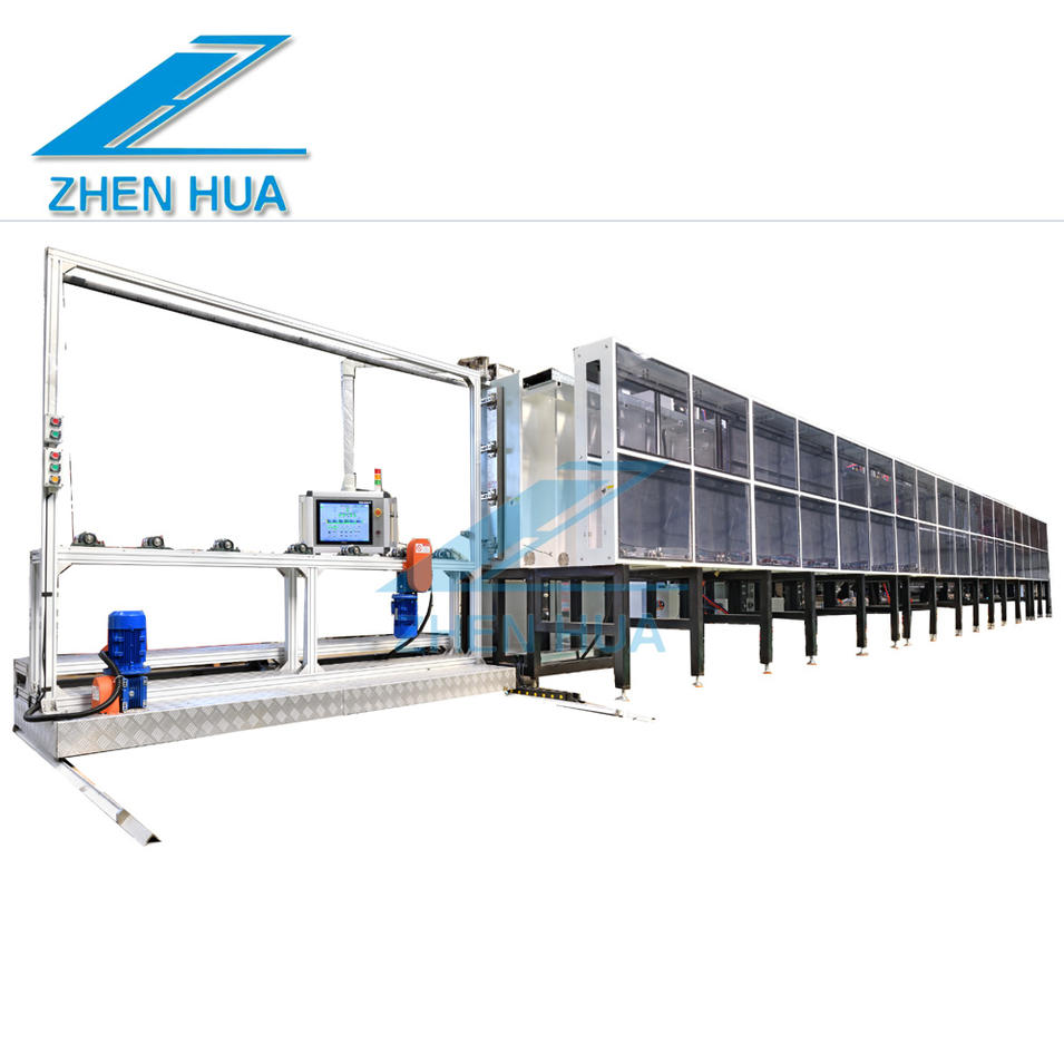 Multi-functional vertical continuous coating line