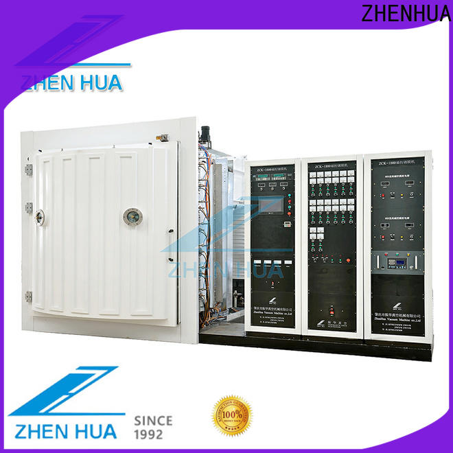 ZHENHUA durable magnetron sputtering system with good price for plastic