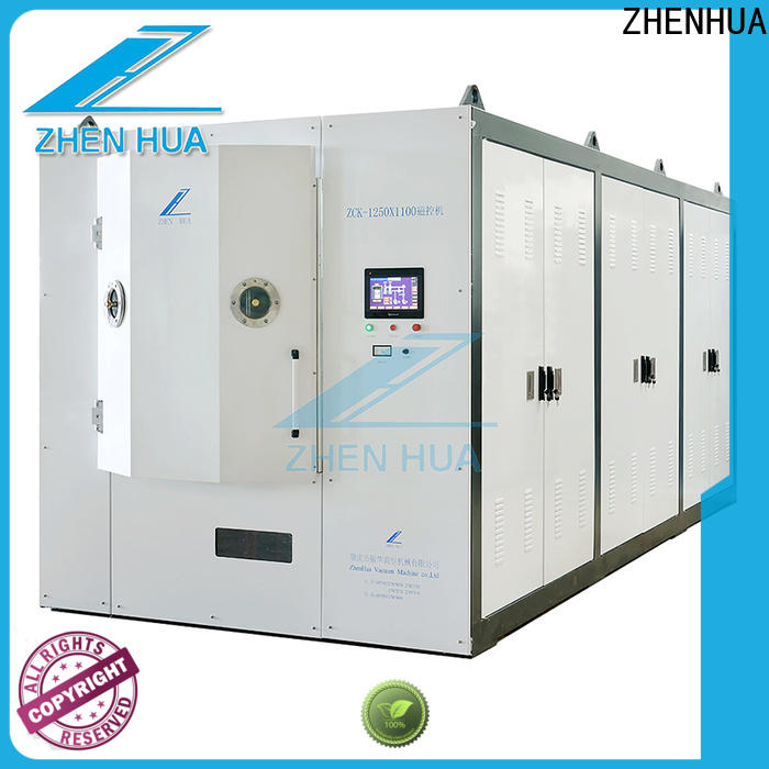 ZHENHUA semi-automatic hard coating machine series for glass