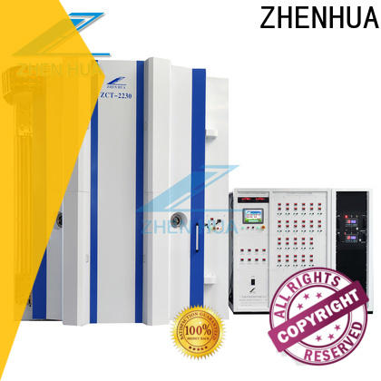ZHENHUA multiple arc sputtering equipment design for plastic