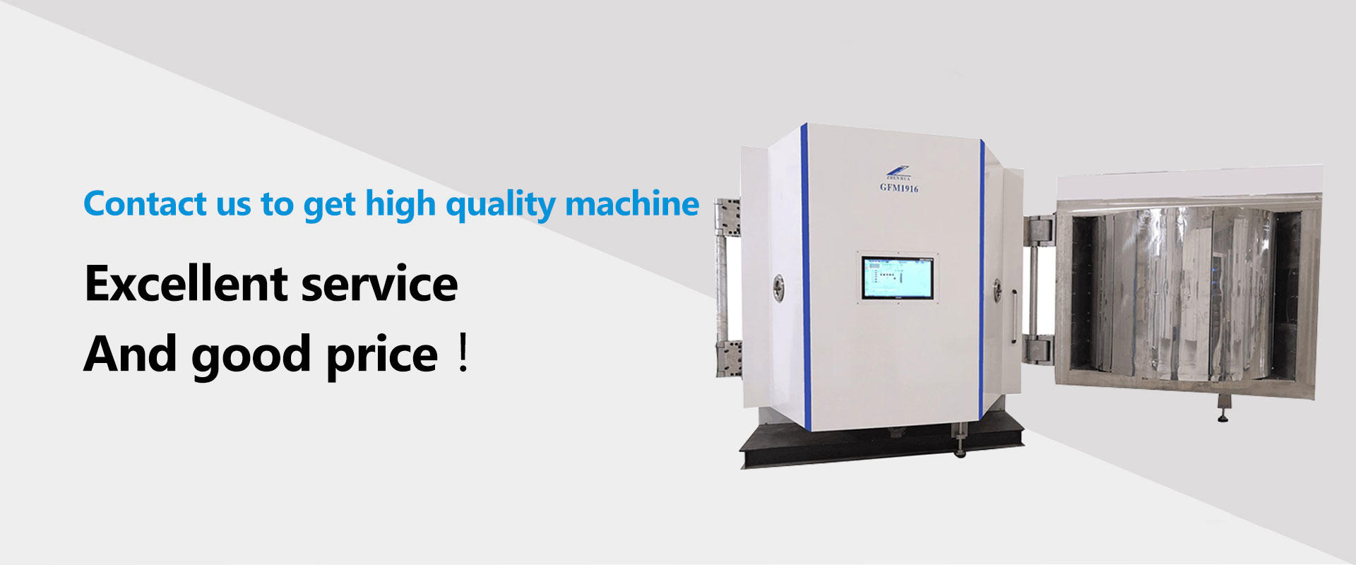 stainless steel Magnetic control optical coating system series for factory